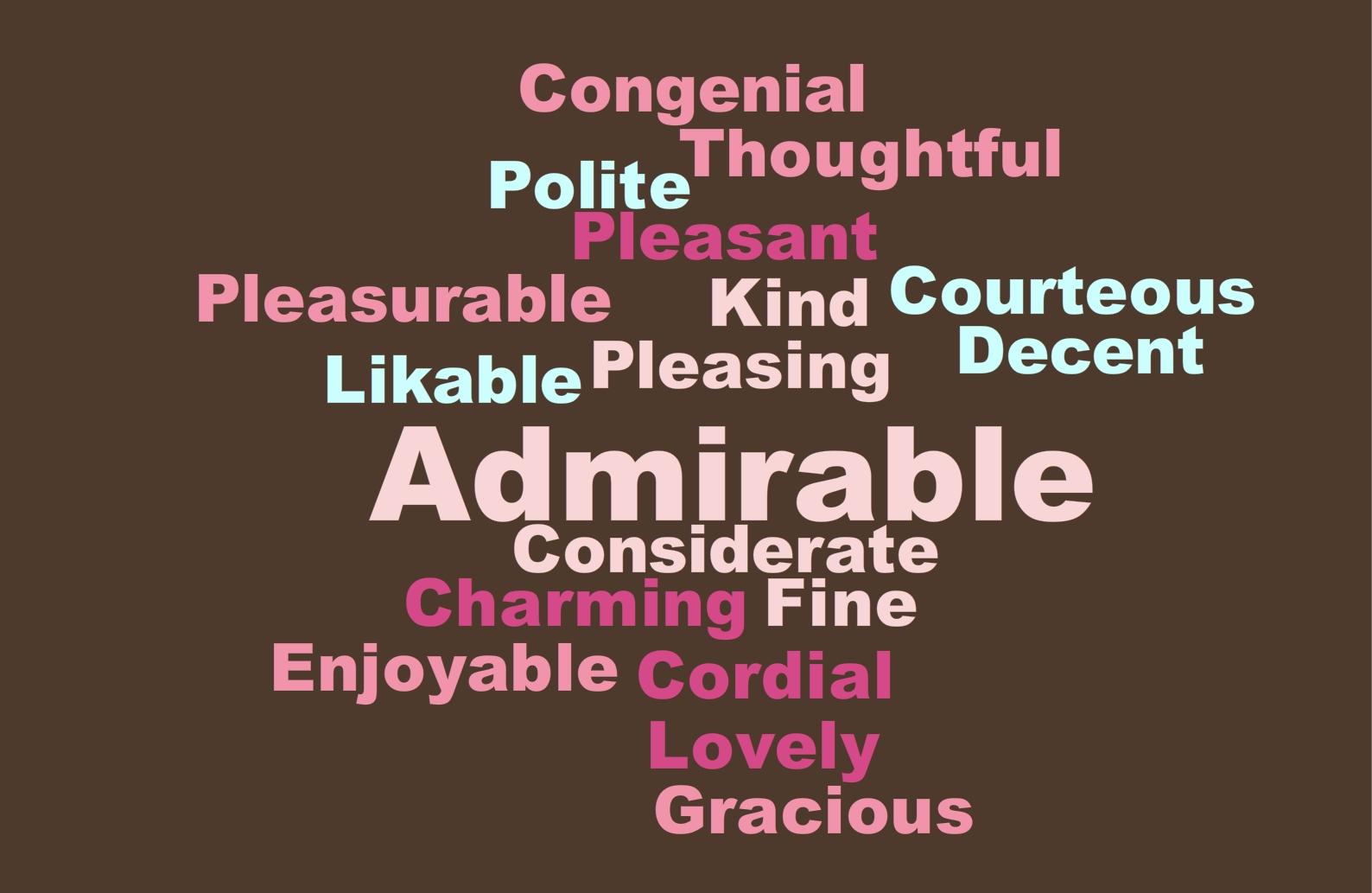 Nice Descriptive Words