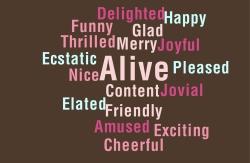 Positive Emotions Descriptive Words