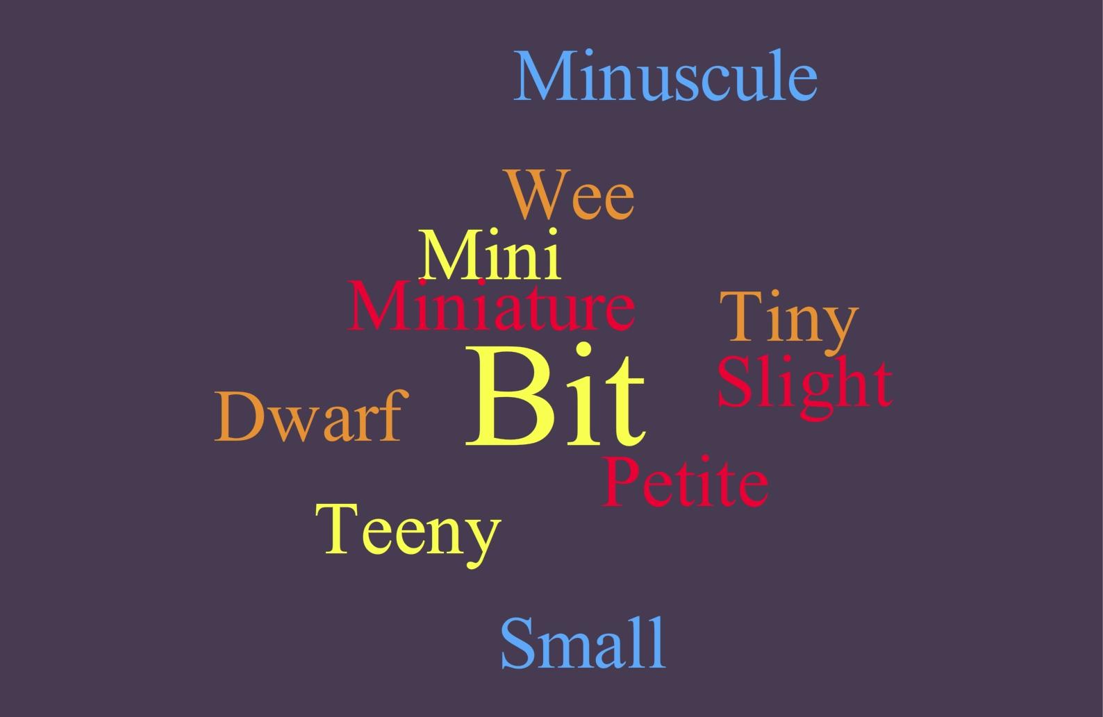 Small Descriptive Words